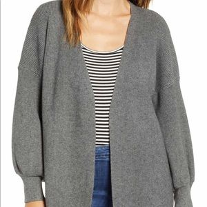 Dreamers by Debut grey balloon sleeve cardigan